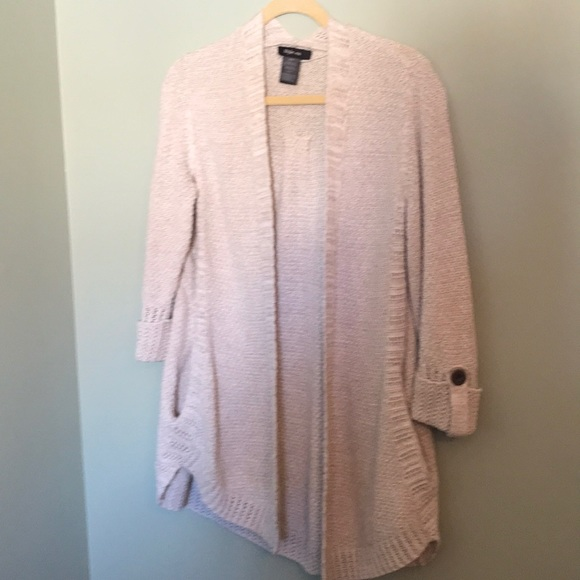 Style & co. Tunic Open Front Cardigan